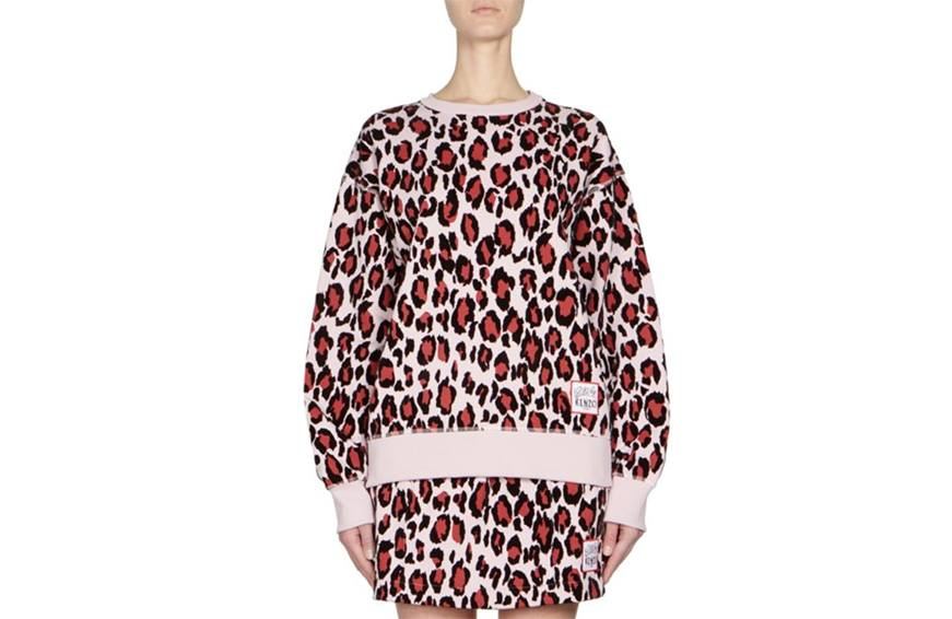 Kenzo Leopard-Print Pullover, $325 cropped