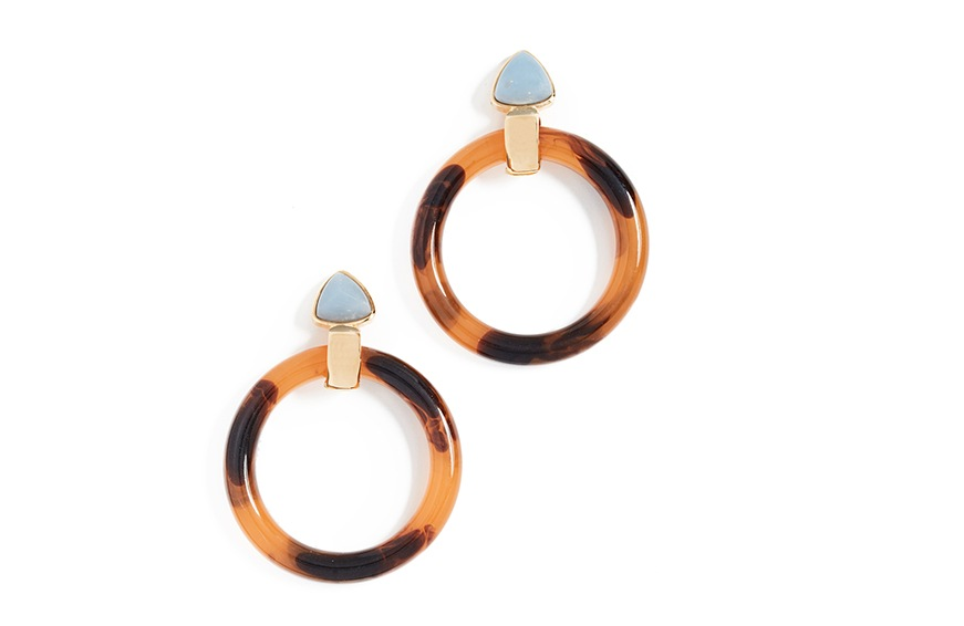 Lizzie Fortunato Sunset Hoops, $185