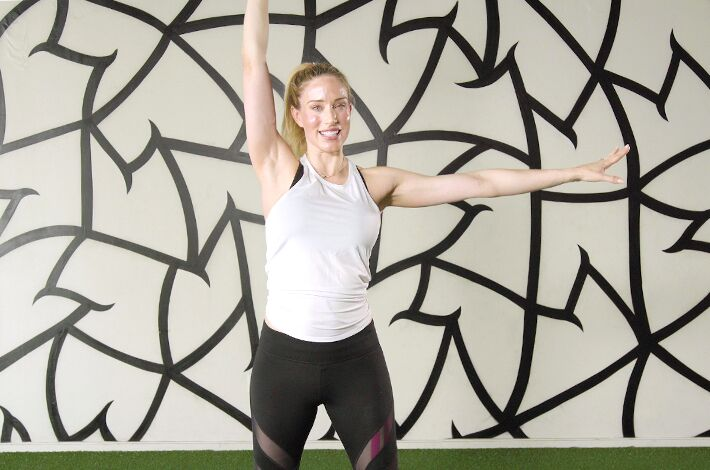This standing abs workout from celeb trainer Astrid Swan is actually a total-body challenge