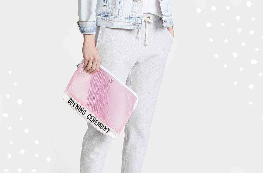 Opening-Ceremony-Clear-PVC-Clutch,-$45