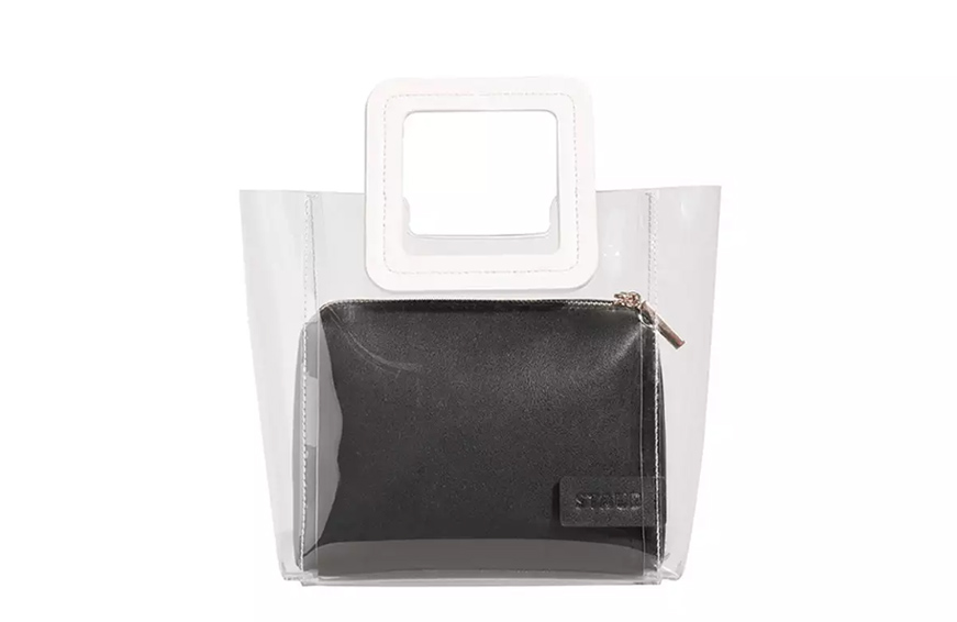 Staud Shirley Colorblock Mini Tote Bag, $195 copy cropped