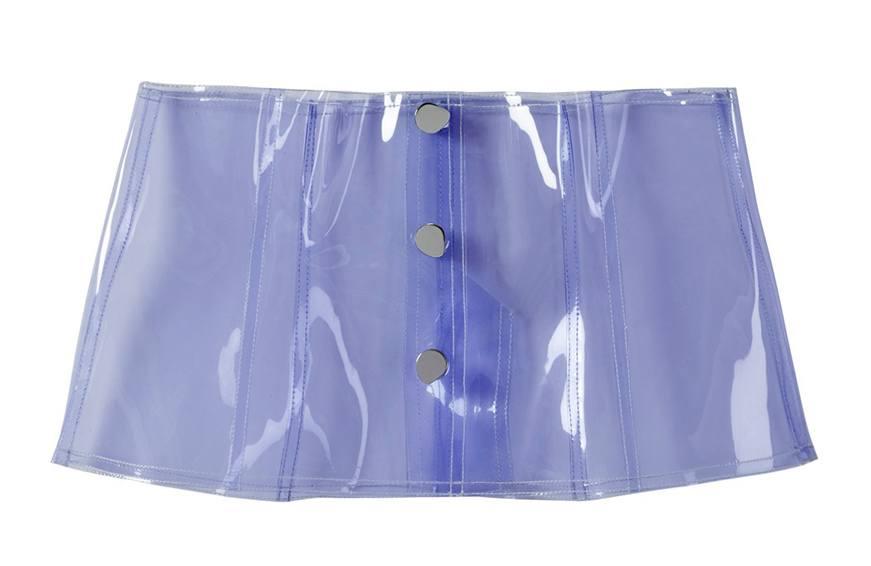 Tibi PVC Snap Corset, $395 cropped