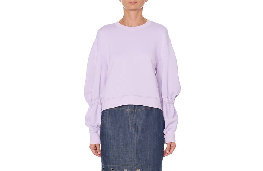 Tibi Sculpted Sleeve Sweatshirt ($250) cropped