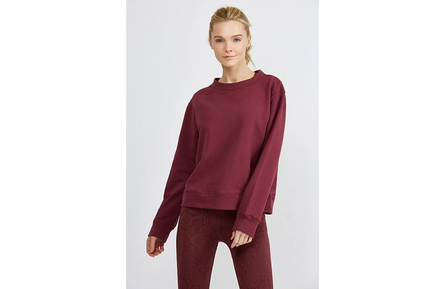 Varley Albata Sweat ($105) cropped