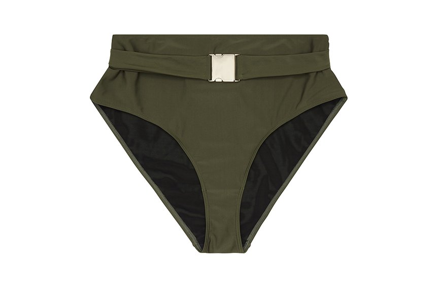 Wolf & Whistle Katya Khaki Belted High Waist Brief Curve, $22