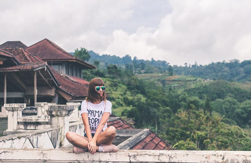 Woman traveling in Bali