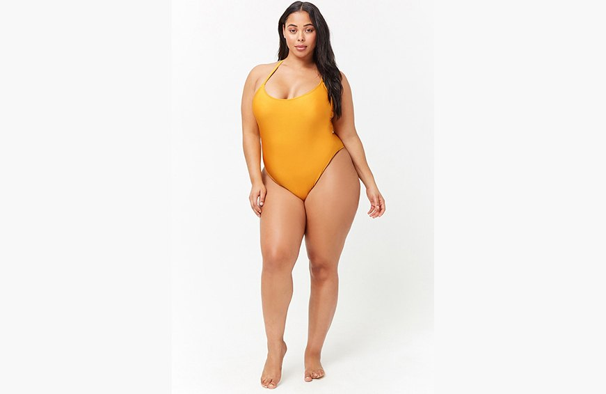 forever 21 crisscross one piece swimsuit