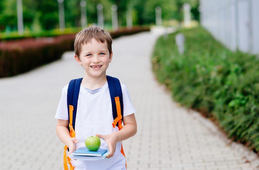 kid with backback