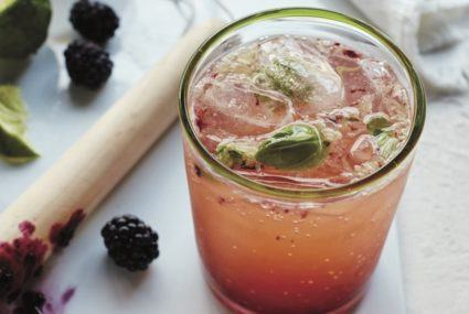 Mix up this blackberry basil mocktail specially created to lower inflammation