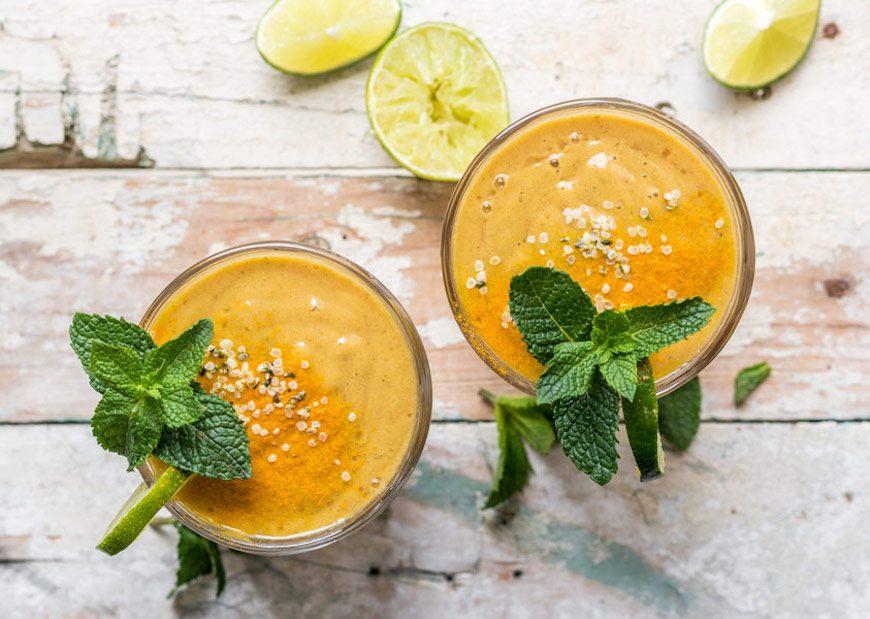 no bloat papaya smoothie