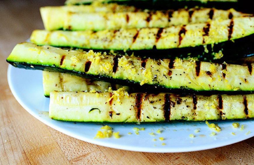 zucchini with lemon salt