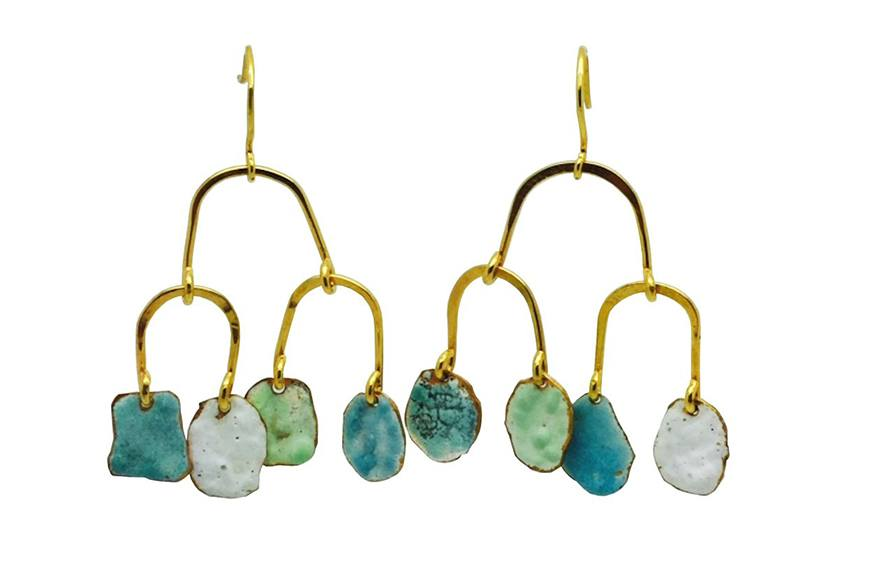 Becca Jewellry Enamel Drop Earring, $240
