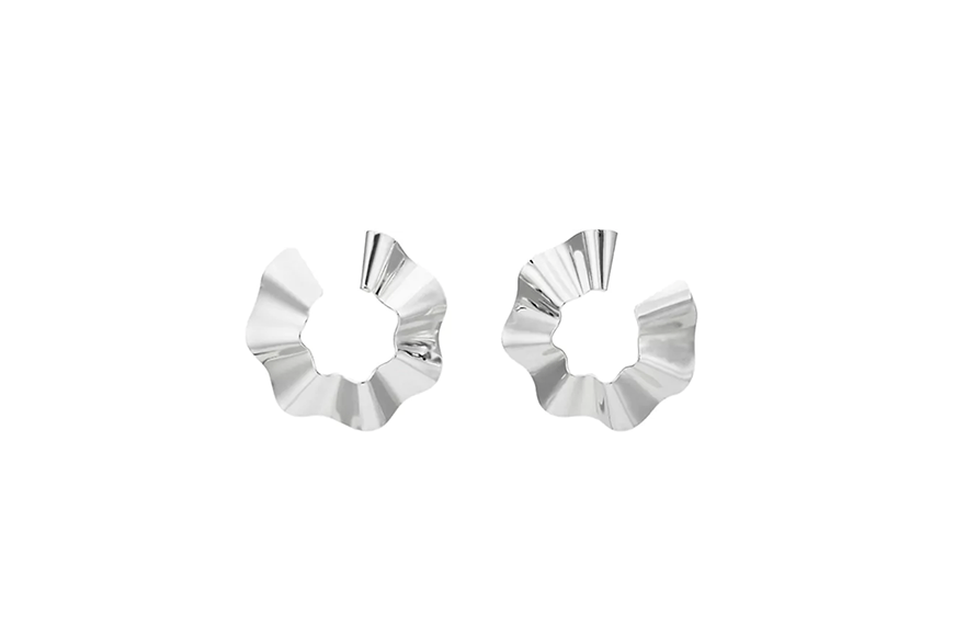 Gaviria Small Ravioli Hoop Earrings, $225