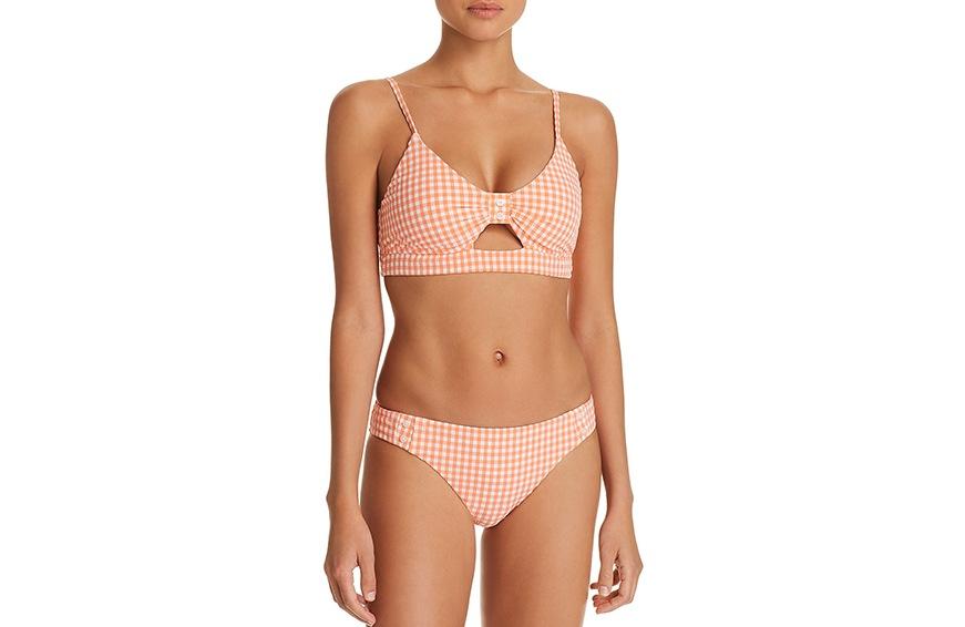 Nanette Lepore Capri Gingham Bikini Top, $86