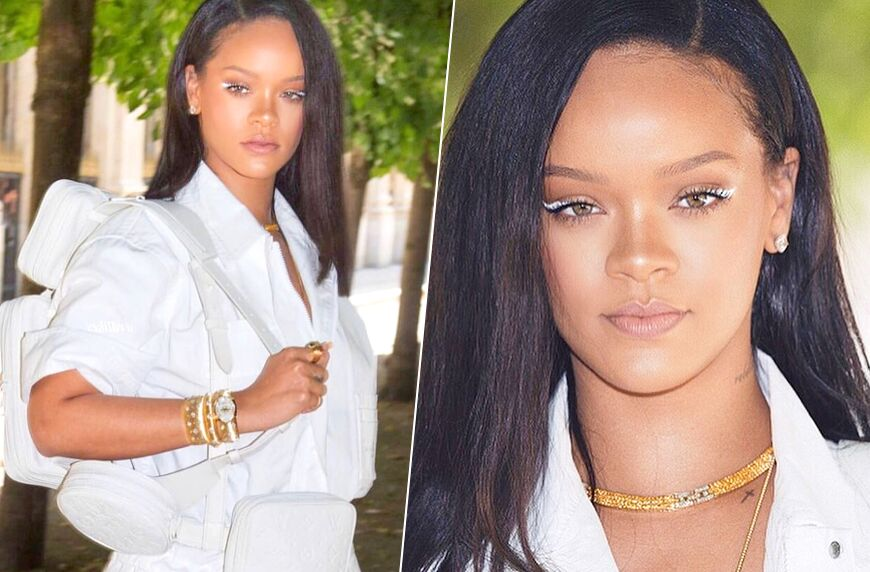 Thumbnail for How to pull off the white-eyeliner look that Rihanna is obsessed with