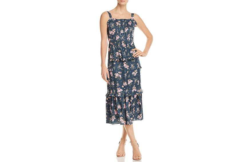 Rebecca Taylor Emilia Floral-Print Silk Midi Dress, $495