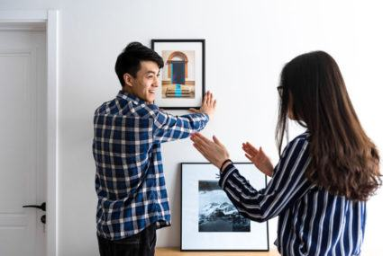 Master a mixed frame gallery wall with this hack