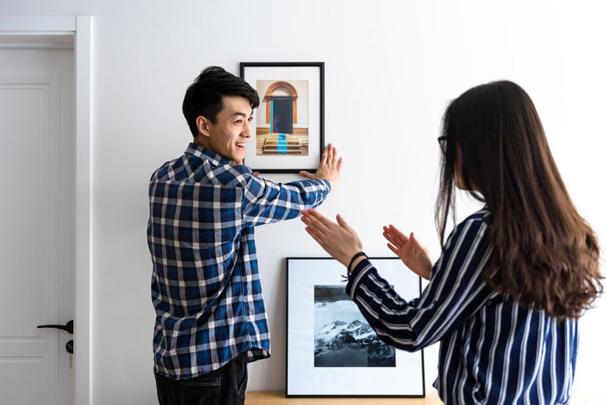 Thumbnail for The genius hack to map out your chic gallery wall—no toolbox necessary