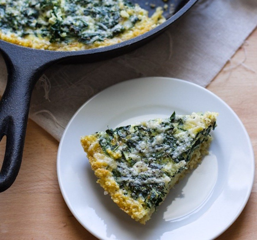kale and millet frittata