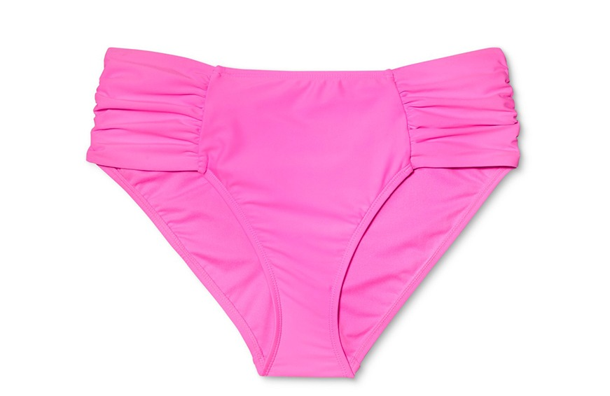 Xhilaration Plus Shirred Tab Hipster Bikini Bottom, $17