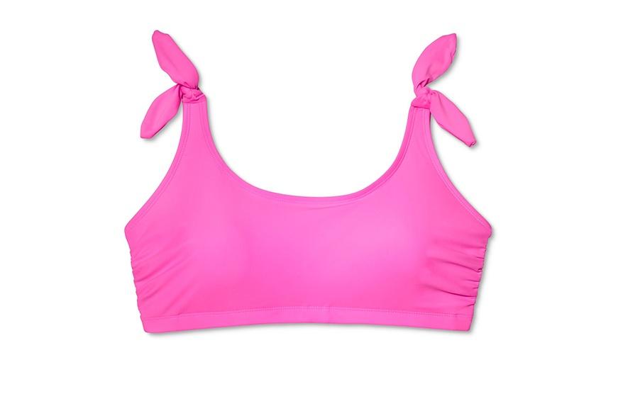 Xhilaration Plus Size Shoulder Tie Bralette Bikini Top, $20