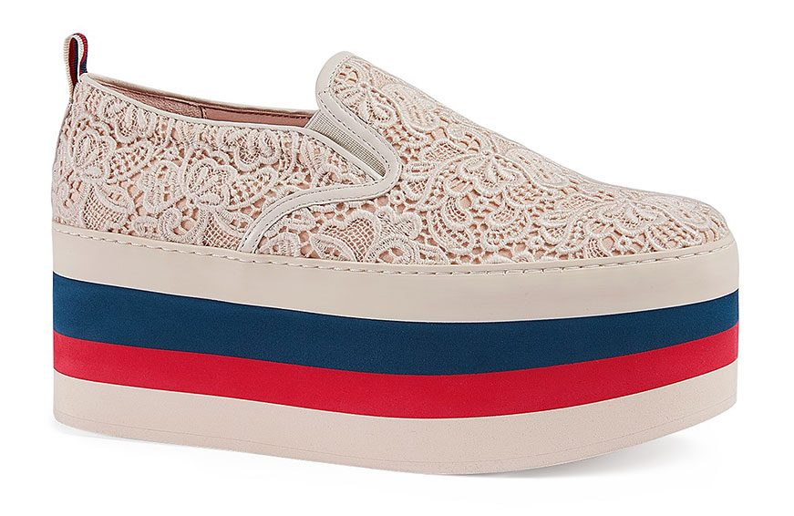 Women's Peggy on Platform Lace Sneakers, $890