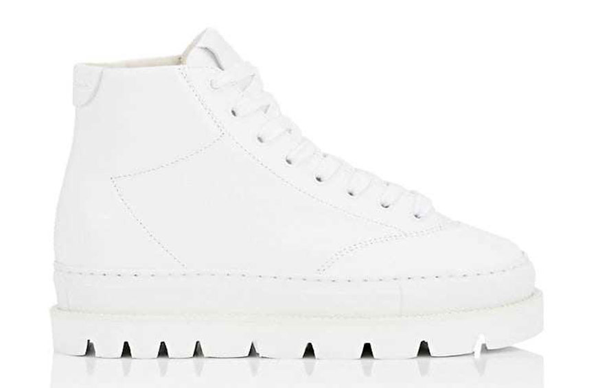 "MM6 Maison Margiela ""Monster"" Leather Sneakers, $565"