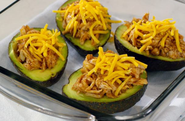BBQ Chicken Avocado Boat Slice Step 1