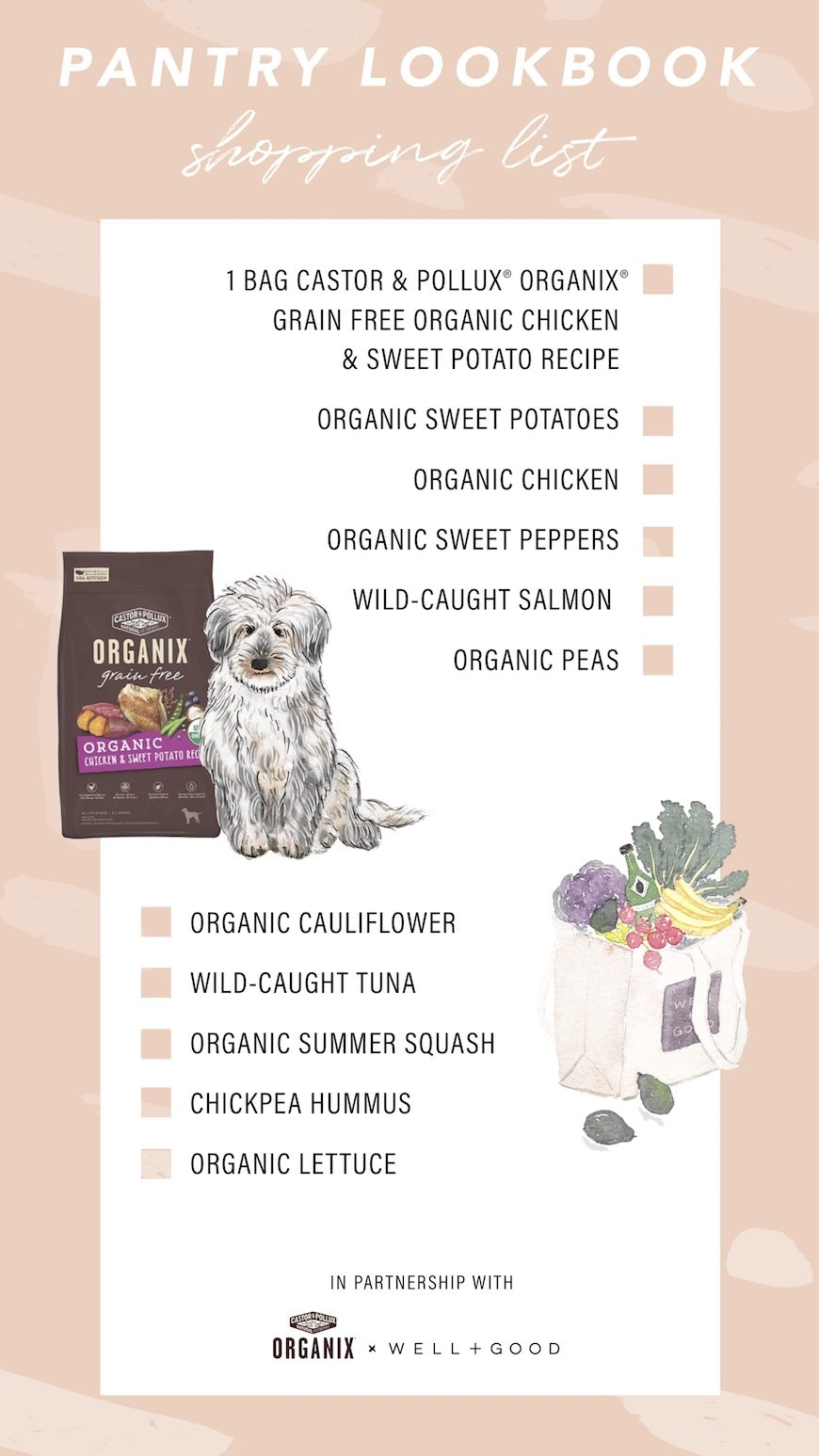 castor & pollux organic shopping list
