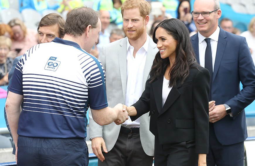 """Thumbnail for Meghan Markle just gave a stylish nod to her """"Suits"""" roots"""
