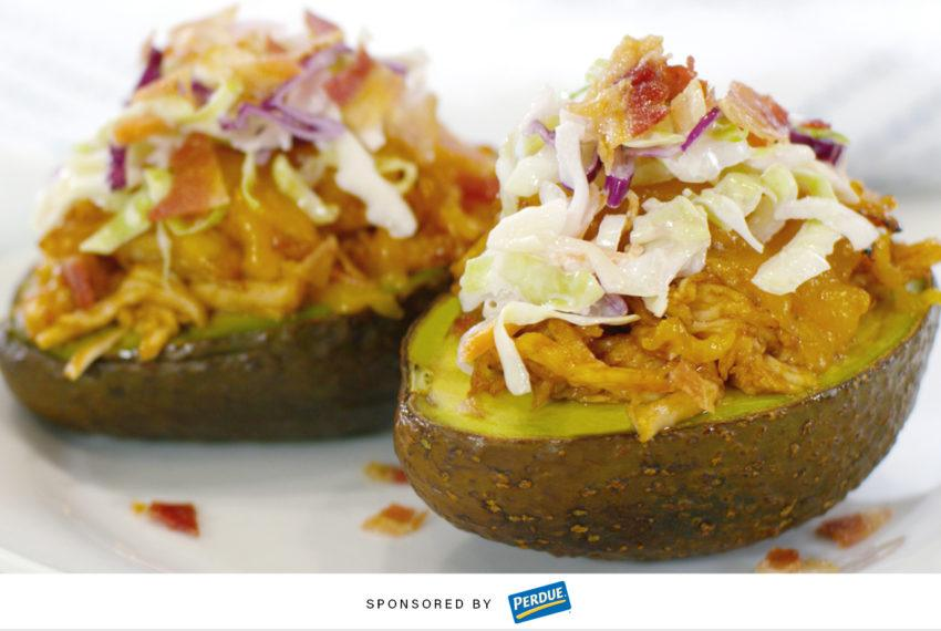 These BBQ Chicken Avocado Boats Are the Easy Dinner-Party Trick You Need