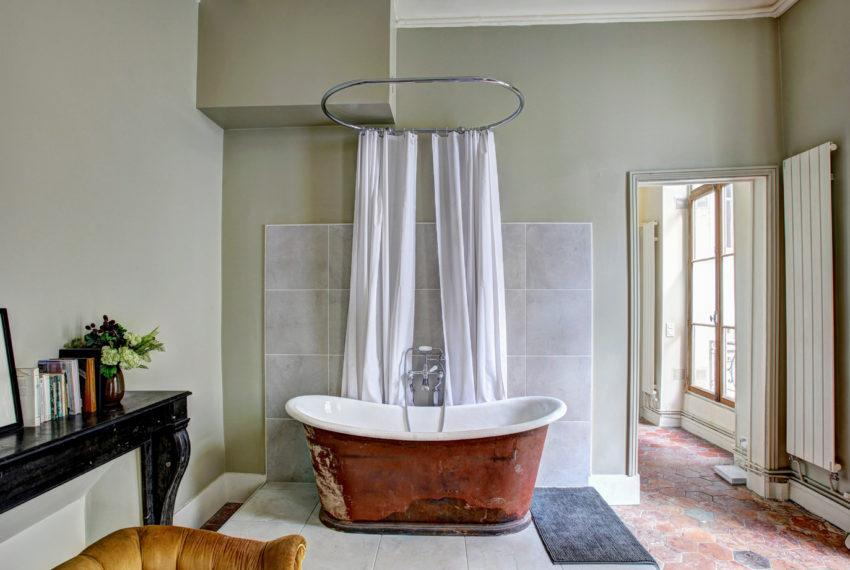 The easiest way to keep your shower curtain liner from clinging to you,...
