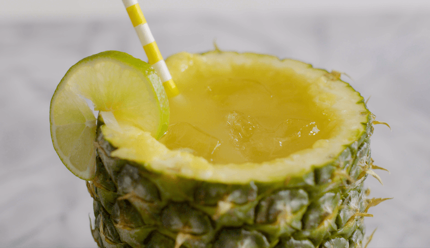 Give your cocktail a golden touch with this pineapple turmeric mezcal recipe