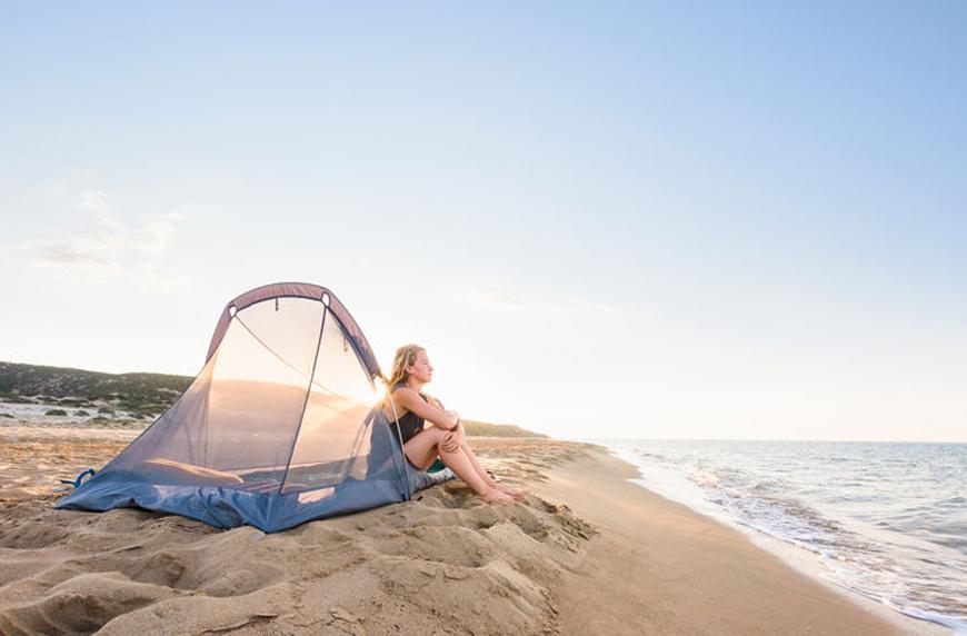 "Thumbnail for These lounge tents are a chic way to ""rough it"""