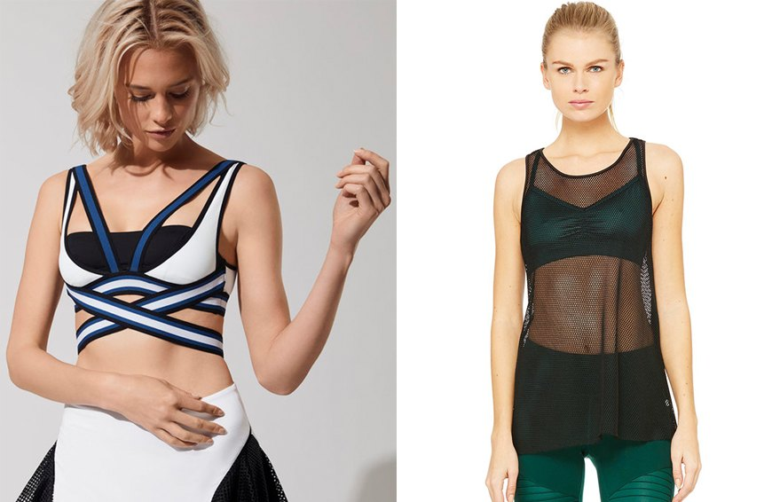 3 stylish combos that prove backless tanks and statement sports bras are a summer fling with staying power