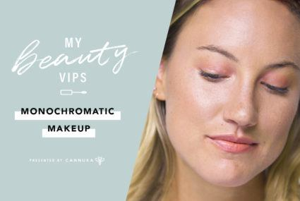 How to nail monochromatic makeup, the 2-in-1 trend that keeps on giving