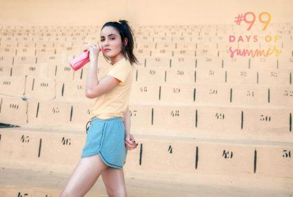 Save the flared jeans for fall—this is the '70s style trend to sport right now