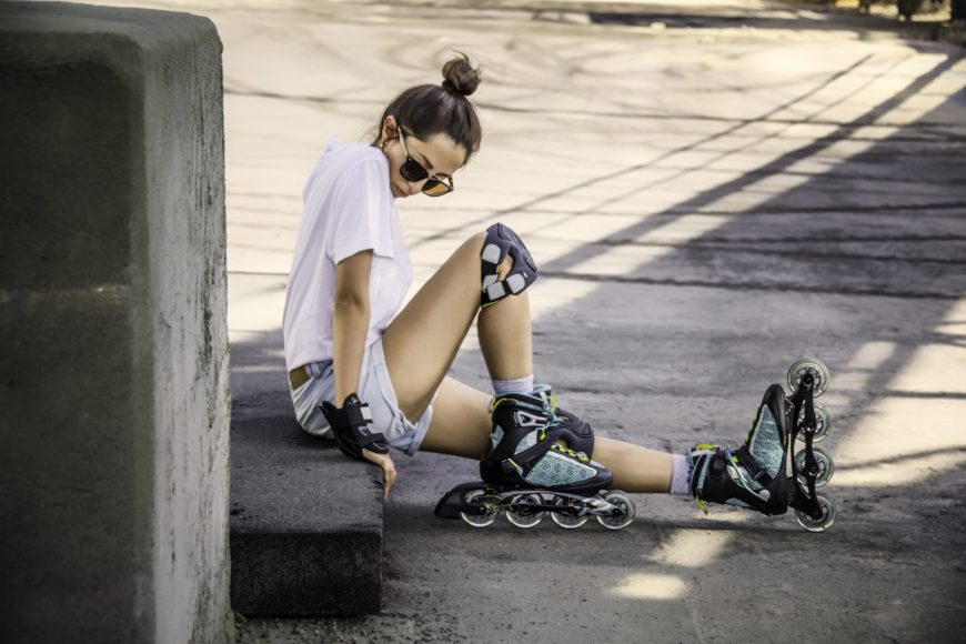 Rollerblading lady