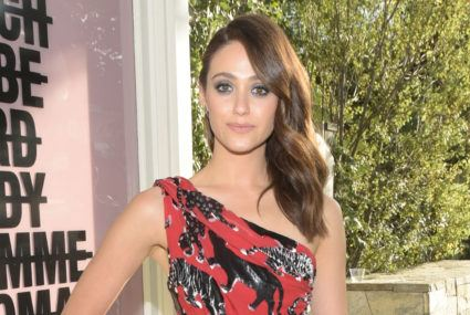 Travel like Emmy Rossum with a mini foam roller