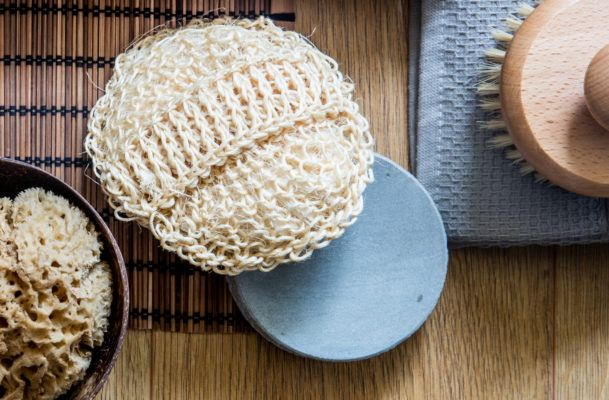 Clean or replace your loofah *this* often because it's a straight-up bacteria playground