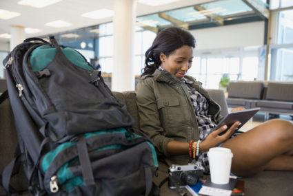 Labor Day Weekend #win: It's now possible to pre-check the length of the airport security line