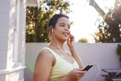 Add Audible to your list of free workout apps