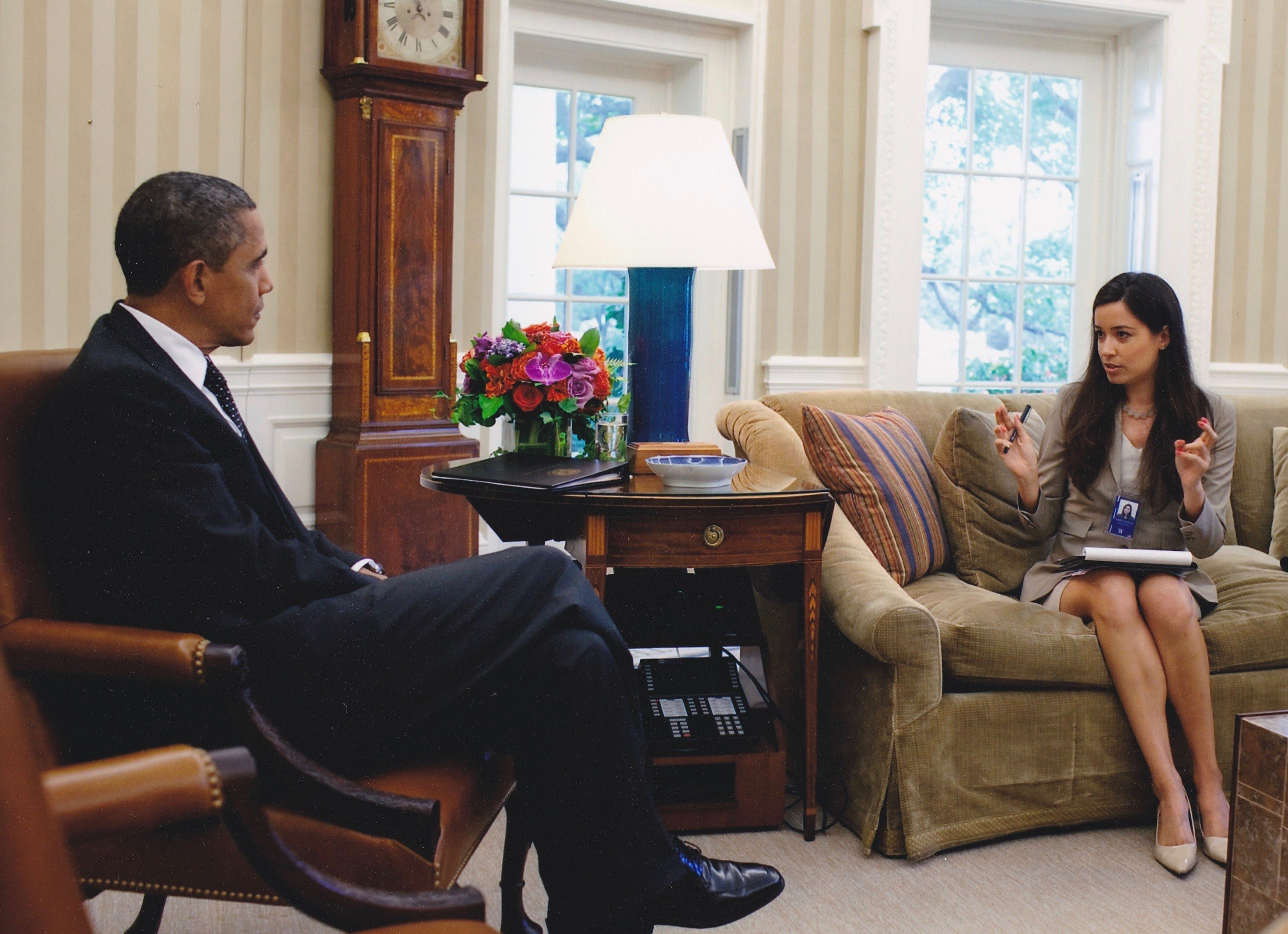 Alejandra Campoverdi and President Obama