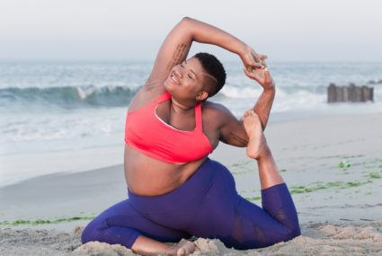 *This* yoga pose is as energizing as a shot of espresso—and Jessamyn Stanley swears by it