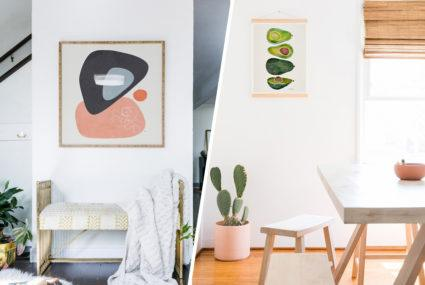 Target home decor now includes Society6 prints