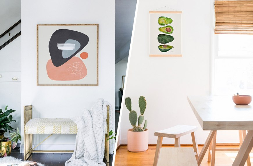 Target home decor now includes Society6 prints | Well+Good