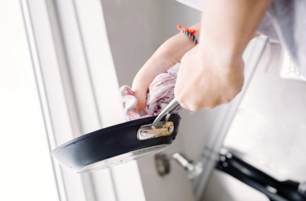 Meet your new hot and steamy cleaning BFF, the microwaved dish rag