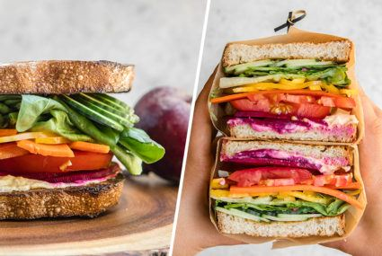 It's possible to eat a rainbow for lunch thanks to this ultimate veggie sandwich