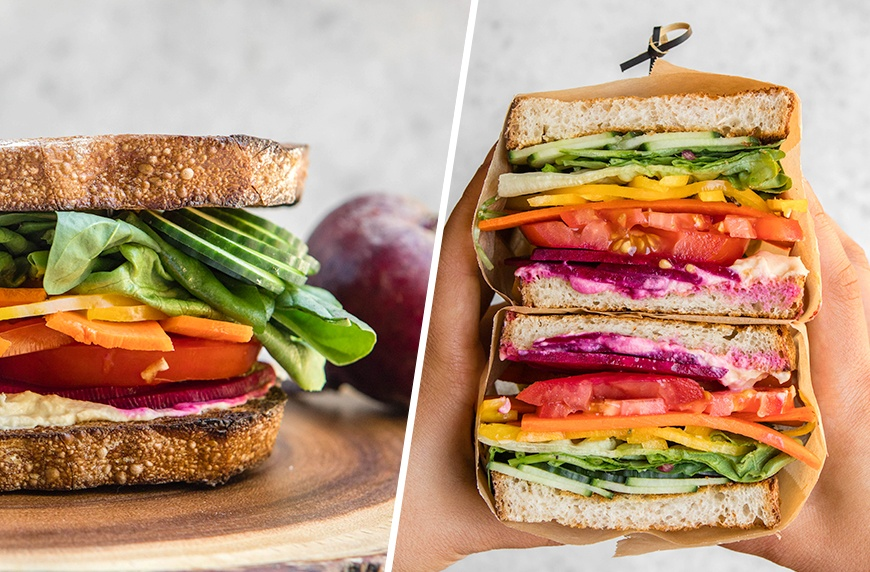 Thumbnail for It's possible to eat a rainbow for lunch thanks to this ultimate veggie sandwich