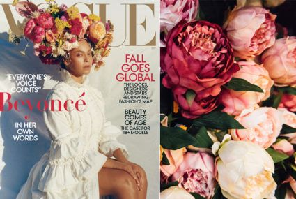 Make a bouquet based on the Beyonce vogue cover